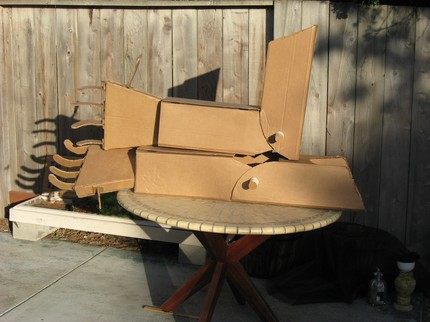 Giant Cardboard Robot Arms by giantcardboardrobots on Etsy