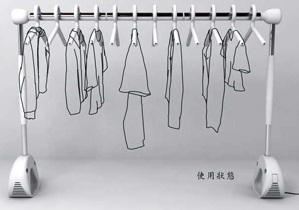 Breeze Racks – Racks For Drying Clothes Indoors By Qin Shuai | Yanko Design