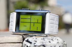 LCD Watch Design with Time, Date and Backlight: Kisai Stencil