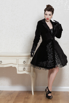 Tailored velvet frock coat - Fairy Goth Mother