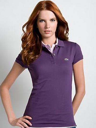 Lacoste Women's Short Sleeve 2 Button Stretch Pique Polo Shirts - Wholesale Brand Clothing