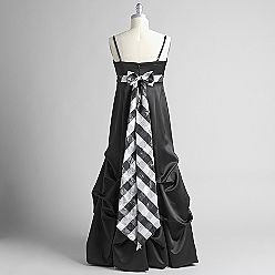 Ignite Strapless Pick-Up Dress with Plaid Bow - Sears